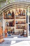 EL COBRE,  CUBA - FEB 1, 2016: Souvenir stall in El Cobre village, Cuba - 168663449