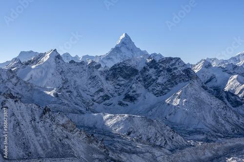 Ama Dablam mountain landscape плакат