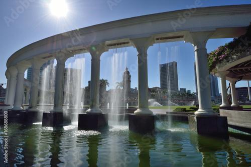 Aluminium Kuala Lumpur Water Fountain at Merdeka Square, Kuala Lumpur, Malaysia.