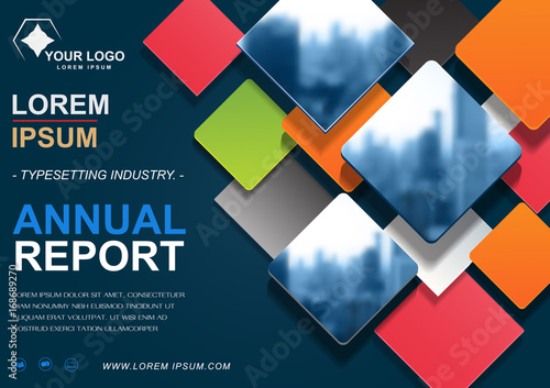 Brochure flyer design template vector, cover presentation abstract background, annual reports layout