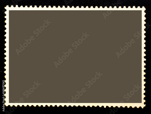blank dark isolated posted stamp template for graphic designers