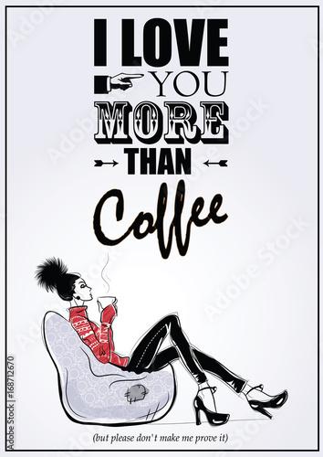 dziewczyna-w-stylu-szkic-siedzi-na-krzesle-i-relaksuje-sie-przy-filizance-kawy