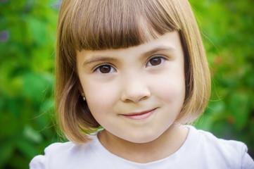 Baby haircut. Selective focus.