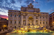 Trevi Fountain - the largest and most famous of the fountains of Rome. Italy.
