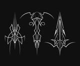 Set of pinstripe vintage design vector illustration - 168727877