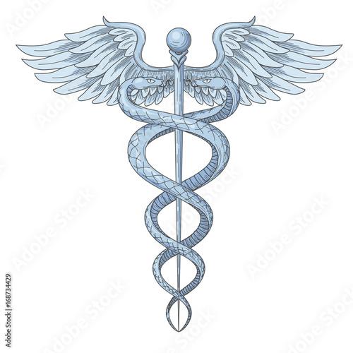 Cadeus Medical Medecine Pharmacy Doctor Ancient High Detailed Symbol