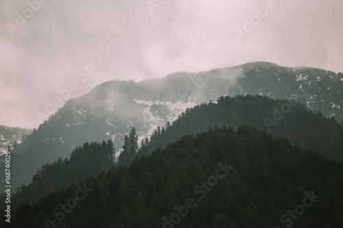 Fotobehang Zwart Beautiful mountains nature landscape at summer daytime