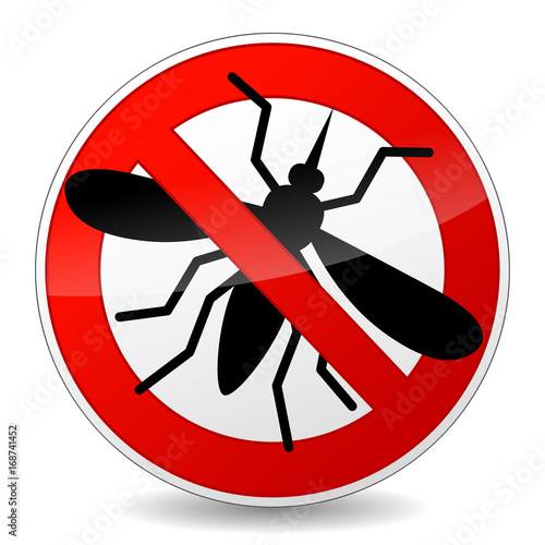no mosquito sign icon on white background - 168741452