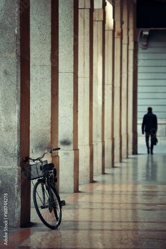 Foto op Canvas Milan Bike in hallway