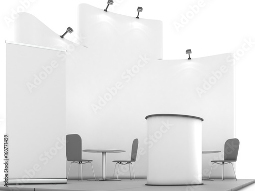 Exhibition Booth Blank : Blank white trade exhibition booth system stand stock illustration