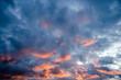 Rainy clouds at sundown