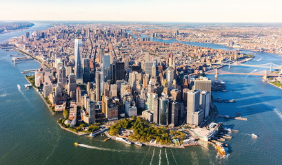 Aerial view of lower Manhattan New York City © Tierney