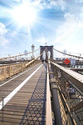 Aluminium New York Brooklyn Bridge, Manhattan, NYC