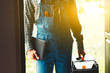 Leinwandbild Motiv worker, service man, plumber or electric
