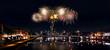 Frankfurter Skyline mit Feuerwerk