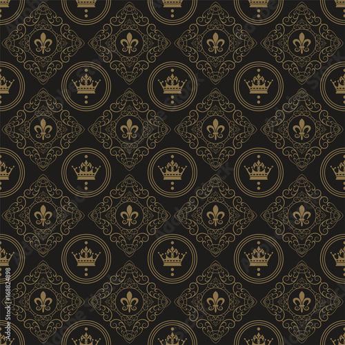 Naklejka art deco wallpaper pattern