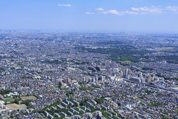 武蔵小金井上空/郊外の住宅地