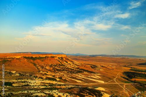 In de dag Oranje eclat Amazing Crimean landscape at sunset.