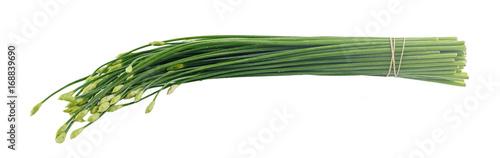 Fotobehang Verse groenten Chinese chives flower