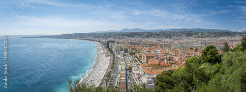 Fotobehang Nice Panorama in Nice