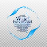 Water frame. Splashes of water on a transparent background. Element for your design. Vector illustration. - 168844446
