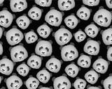 Panda Head Pattern background