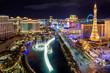Leinwanddruck Bild - Las Vegas strip, Aerial view
