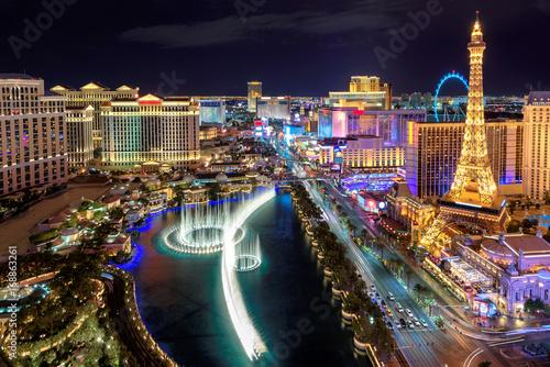 Las Vegas strip, Aerial view Poster