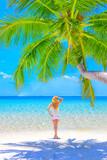Dreamscape Escape with beauty girl on Maldives - 168879493