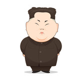 23 August, 2017: Illustration Of North Korean Leader Kim Jong-Un In Popular Pose - 168880014