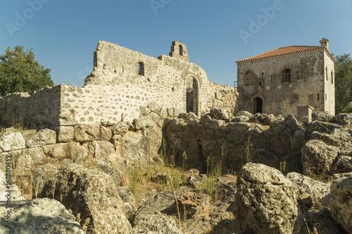 Nekromanteio ancient walls Preveza Greece Poster
