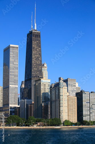 Staande foto Chicago Chicago, shore drive, lake michigan, cityscape