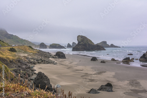 The coast along Gold Beach, Oregon