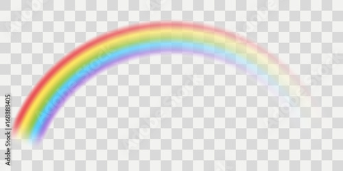 Vector rainbow with transparent effect