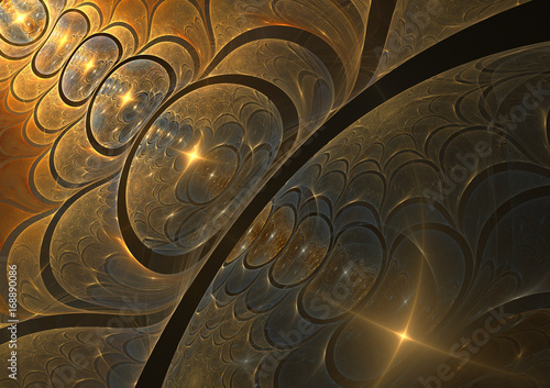 Golden bubble fractal background