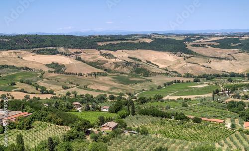 Aluminium Landschappen Tuscany, Italy