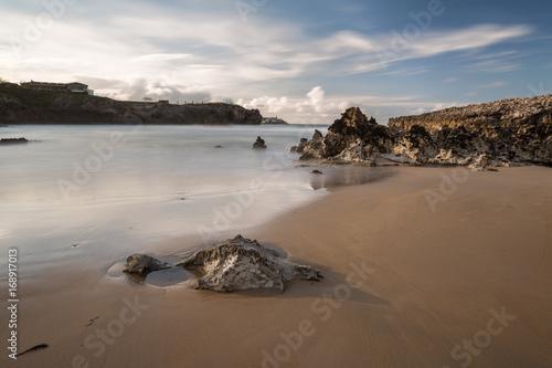 Landscape in the Toro beach. Llanes. Spain.