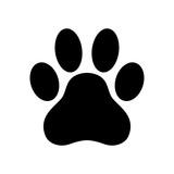 Dog paw print. Paw icon. Vector illustration. - 168917667