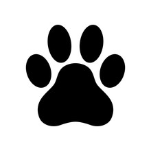 Dog Paw Print Paw Icon  Illustration Sticker