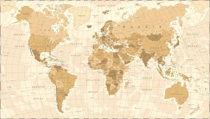 World Map Vintage Vector © dikobrazik