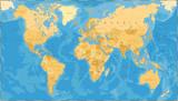 World Map Political Vintage Vector - 168918444