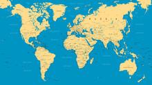 World map wall murals murale design world map political blue beige vector gumiabroncs Choice Image