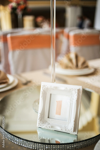 Numbering of wedding tables