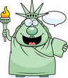Cartoon Statue of Liberty Talking