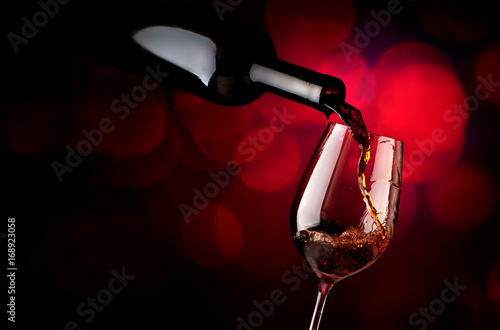 Wineglass on a vinous background