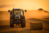 tractor sunset harvest - 168926698