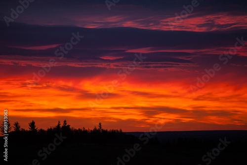 Colorful sky at sunrise