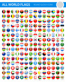All World Flags - Vector Round Glossy Icons - 168934601
