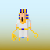 Pixel character Pharaoh for games and applications