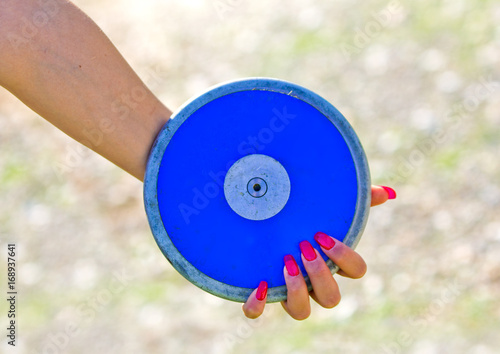 Poster blue disc ready to be launched